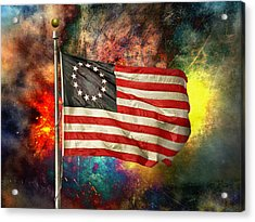 Betsy Ross Flag Acrylic Print by Steven  Michael
