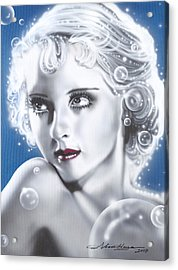 Bette Davis Acrylic Print by Alicia Hayes