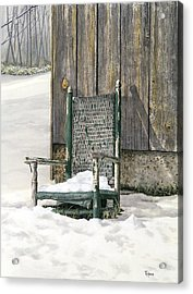 Better Days - Winter Acrylic Print by Ted Head