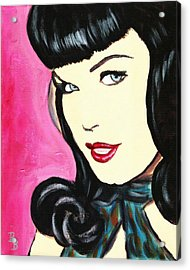 Bettie Page Pop Art Painting Acrylic Print