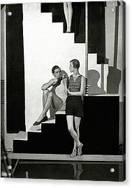 Bettina Jones Posing With A Male Model Acrylic Print