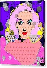 Betty Davis Acrylic Print by Ricky Sencion