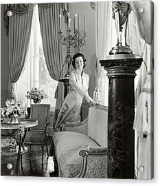 Betty Ford In The Oval Room Of The White House Acrylic Print