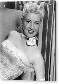 Betty Grable In How To Marry A Millionaire  Acrylic Print by Silver Screen