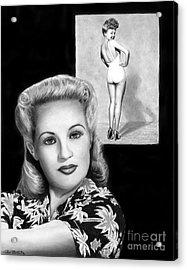 Betty Grable Acrylic Print by Peter Piatt
