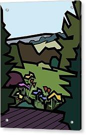 Betty's Garden Acrylic Print by Kenneth North