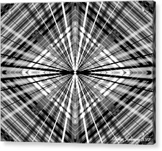 Between Black And White Acrylic Print by Brian Johnson