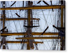 Between Masts And Ropes Acrylic Print
