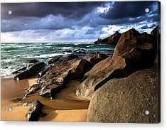 Between Rocks And Water Acrylic Print