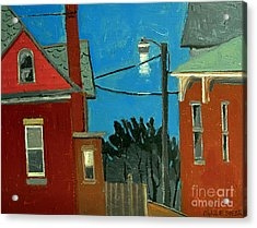 Between The Alley And 6th St Acrylic Print by Charlie Spear