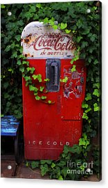 Austin Texas - Coca Cola Vending Machine - Luther Fine Art Acrylic Print by Luther Fine Art