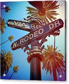 Beverly Hills California Acrylic Print by Lpettet