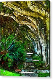 Beverly Hills Jungle Acrylic Print by Cary Shapiro
