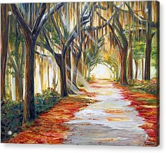 Bev's Path Acrylic Print by Suzanne King