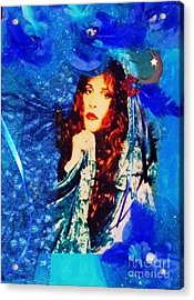 Bewitched In Blue Acrylic Print