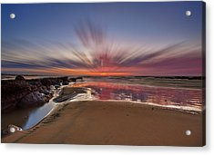 Bexhill Sunburst Acrylic Print by Mark Leader