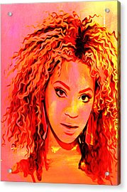 Acrylic Print featuring the painting Beyonce by Brian Reaves