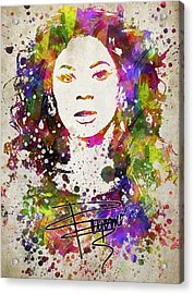 Beyonce In Color Acrylic Print