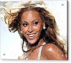 Beyonce Portrait Acrylic Print