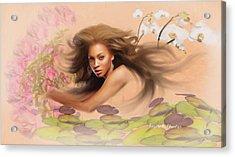 Beyonce's Dream Acrylic Print by Angela A Stanton