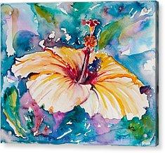 Beyond Blue Acrylic Print by Eve  Wheeler