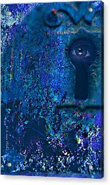 Beyond The Door - Abstract Acrylic Print by J Larry Walker