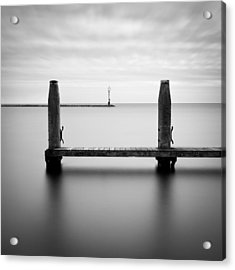 Beyond The Jetty Acrylic Print by Dave Bowman