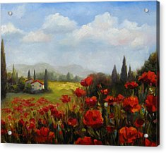 Beyond The Poppies Acrylic Print