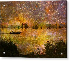 Beyond The Reeds Acrylic Print by J Larry Walker