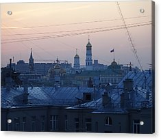 Beyond The Rooftops Acrylic Print by Anna Yurasovsky