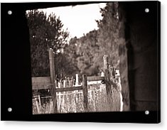 Beyond The Stable Acrylic Print by Loriental Photography
