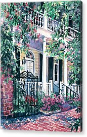 Beyond The Wrought Iron Acrylic Print by Alice Grimsley