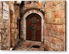 Door In Jerusalem Acrylic Print