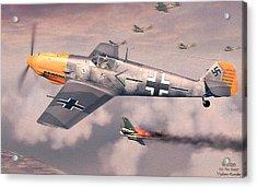 Bf 109e Geschwaderkommodore Jg 26 Adolf Galland Acrylic Print by Vladimir Kamsky