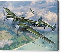 Bf-110 Zerstorer Acrylic Print by Stu Shepherd