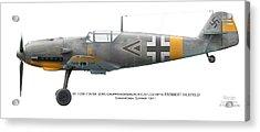 Bf109e-7 W.nr. 6095 Gruppenkommandeur I./lg2 Hptm. Herbert Ihlefeld. Barbarossa. 1941 Acrylic Print by Vladimir Kamsky