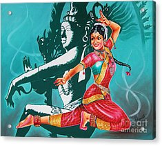 Bharatanatyam Acrylic Print