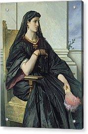Bianca Capello, 186468 Oil On Canvas Acrylic Print