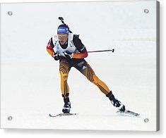 biathlete Erik Lesser Germany Acrylic Print