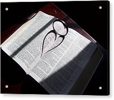 Bible Heart Acrylic Print by Donnell Carr