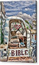 Bible Truck Acrylic Print by Hugh Smith