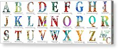 Bible Verse Alphabet Poster Acrylic Print by Mark Lawrence