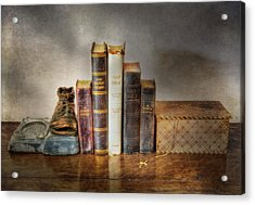 Bibles And Hymnbooks Acrylic Print by David and Carol Kelly