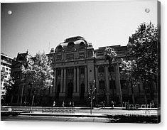 biblioteca nacional de chile national library Santiago Chile Acrylic Print by Joe Fox