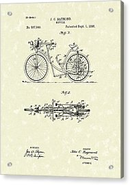 Bicycle 1906 Patent Art Acrylic Print by Prior Art Design