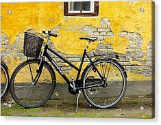 Acrylic Print featuring the photograph Bicycle Aarhus Denmark by John Jacquemain
