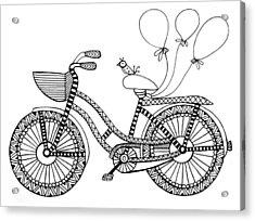 Bicycle Baloons Acrylic Print