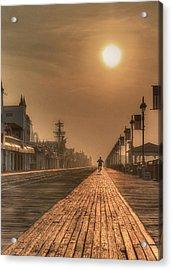 Bicycle Boardwalk Acrylic Print