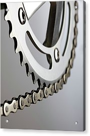 Bicycle Chain And Crank Acrylic Print by Science Photo Library