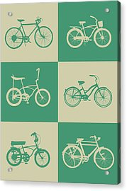 Bicycle Collection Poster 4 Acrylic Print by Naxart Studio